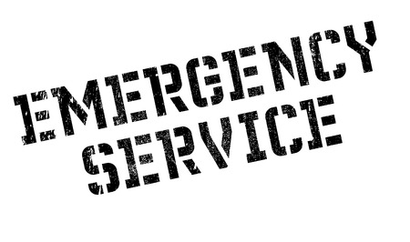 predicament: Emergency Service stamp. Grunge design with dust scratches. Effects can be easily removed for a clean, crisp look. Color is easily changed.
