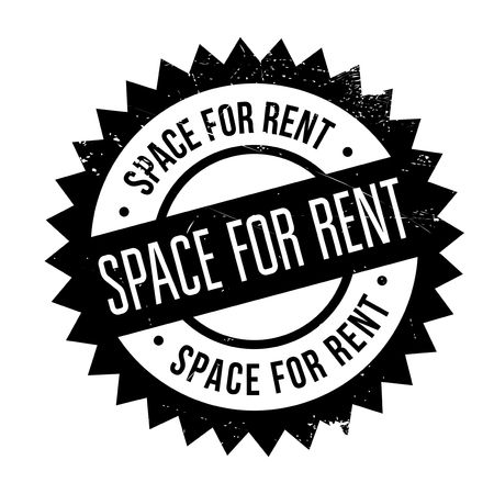 Space For Rent stamp. Grunge design with dust scratches. Effects can be easily removed for a clean, crisp look. Color is easily changed. Illustration