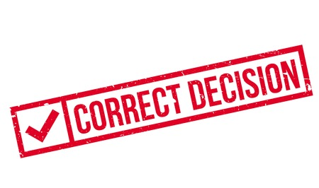 right choice: Correct Decision rubber stamp. Grunge design with dust scratches. Effects can be easily removed for a clean, crisp look. Color is easily changed.