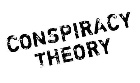 Conspiracy Theory rubber stamp. conception grunge avec des rayures de poussière. Les effets peuvent être facilement enlevés pour un aspect propre et croustillant. La couleur est facilement changée. Vecteurs