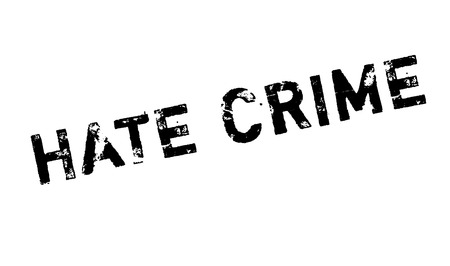 Hate Crime rubber stamp. Grunge design with dust scratches. Effects can be easily removed for a clean, crisp look. Color is easily changed. Vektoros illusztráció