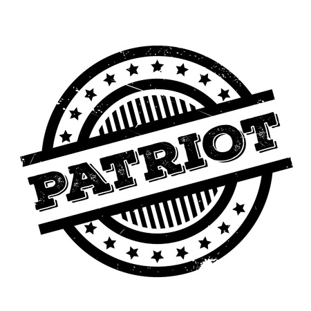 Patriot rubber stamp. Grunge design with dust scratches. Effects can be easily removed for a clean, crisp look. Color is easily changed.