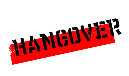 Hangover rubber stamp. Grunge design with dust scratches. Effects can be easily removed for a clean, crisp look. Color is easily changed. Illustration