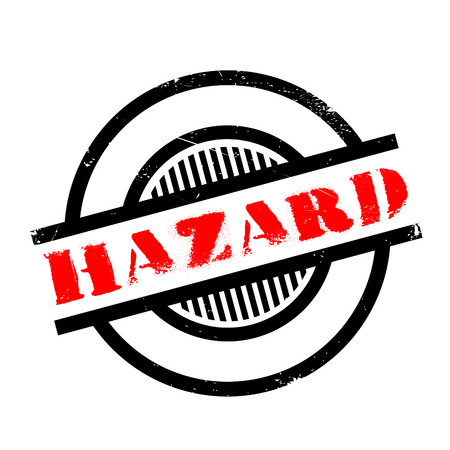 amp: Hazard rubber stamp. Grunge design with dust scratches. Effects can be easily removed for a clean, crisp look. Color is easily changed.