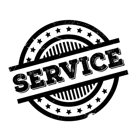 Service rubber stamp. Grunge design with dust scratches. Effects can be easily removed for a clean, crisp look. Color is easily changed.