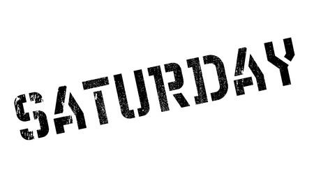 Sello de goma del sábado. Diseño de Grunge con rayas de polvo. Los efectos se pueden eliminar fácilmente para una apariencia limpia y nítida. El color se cambia fácilmente.