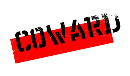 cowardice: Coward rubber stamp. Grunge design with dust scratches. Effects can be easily removed for a clean, crisp look. Color is easily changed. Illustration