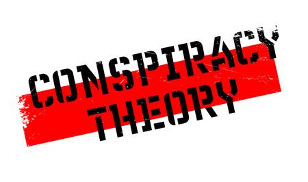 Conspiracy Theory rubber stamp. conception grunge avec des rayures de poussière. Les effets peuvent être facilement enlevés pour un aspect propre et croustillant. La couleur est facilement changée.