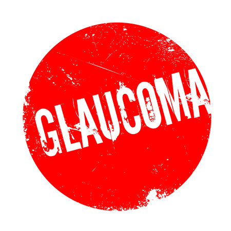 Glaucoma rubber stamp. Grunge design with dust scratches. Effects can be easily removed for a clean, crisp look. Color is easily changed. Ilustracja