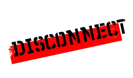 disconnected: Disconnect rubber stamp. Grunge design with dust scratches. Effects can be easily removed for a clean, crisp look. Color is easily changed.