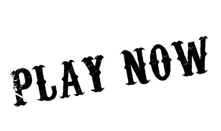 avi: Play Now rubber stamp. Grunge design with dust scratches. Effects can be easily removed for a clean, crisp look. Color is easily changed. Illustration