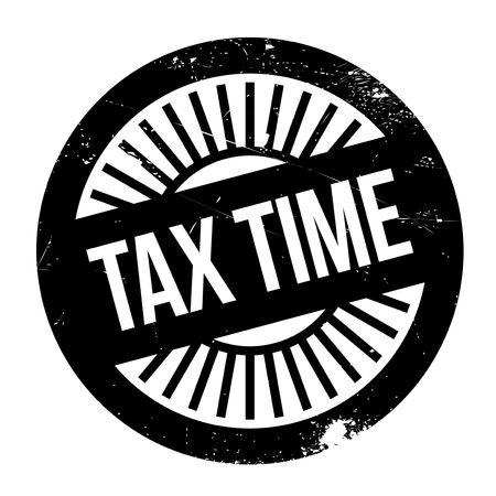 Tax time stamp. disegno del grunge con graffi di polvere. Gli effetti possono essere facilmente rimossi per un look pulito e fresco. Il colore è molto semplice. Vettoriali
