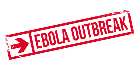 infectious disease: Ebola Outbreak stamp. Grunge design with dust scratches. Effects can be easily removed for a clean, crisp look. Color is easily changed. Illustration