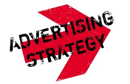Advertising Strategy stamp. Grunge design with dust scratches. Effects can be easily removed for a clean, crisp look. Color is easily changed.