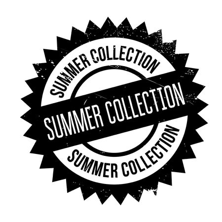 Summer collection stamp. Grunge design with dust scratches. Effects can be easily removed for a clean, crisp look. Color is easily changed.