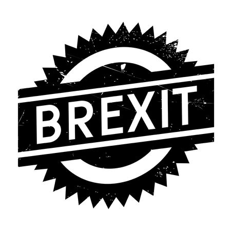 Brexit stamp. Grunge design with dust scratches. Effects can be easily removed for a clean, crisp look. Color is easily changed. Illustration