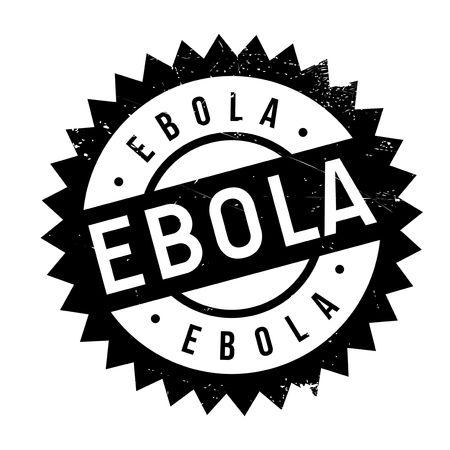 cavie: Ebola timbro. disegno del grunge con graffi di polvere. Gli effetti possono essere facilmente rimossi per un look pulito e fresco. Il colore è molto semplice.