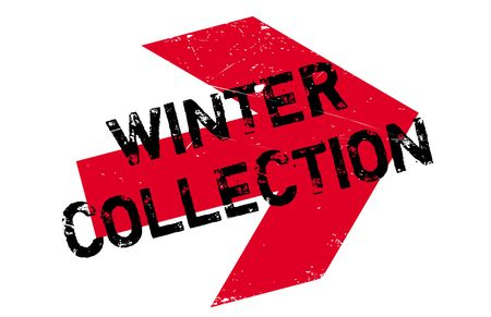 Winter collection stamp. Grunge design with dust scratches. Effects can be easily removed for a clean, crisp look. Color is easily changed. Illustration