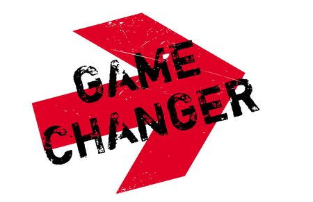 Game changer stamp. Grunge design with dust scratches. Effects can be easily removed for a clean, crisp look. Color is easily changed. Illustration