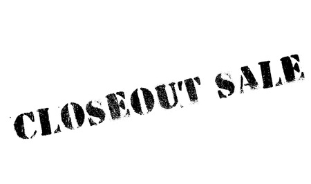 markdown: Closeout sale stamp. Grunge design with dust scratches. Effects can be easily removed for a clean, crisp look. Color is easily changed.
