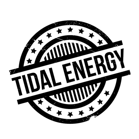 Tidal Energy rubber stamp. Grunge design with dust scratches. Effects can be easily removed for a clean, crisp look. Color is easily changed.