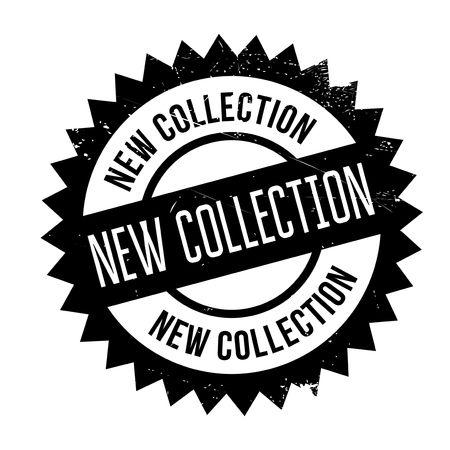 Novo selo de coleta. Design grunge com arranhões de poeira. Os efeitos podem ser facilmente removidos para um visual limpo e nítido. A cor é facilmente alterada.