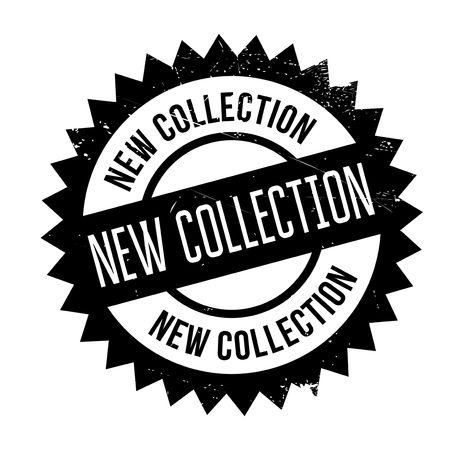 New collection stamp. Grunge design with dust scratches. Effects can be easily removed for a clean, crisp look. Color is easily changed.
