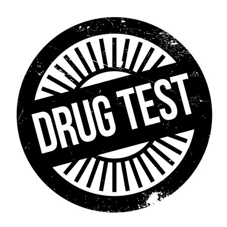Drug test stamp. Grunge design with dust scratches. Effects can be easily removed for a clean, crisp look. Color is easily changed. Illustration