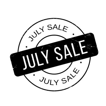 barter: July Sale rubber stamp. Grunge design with dust scratches. Effects can be easily removed for a clean, crisp look. Color is easily changed.