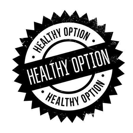 restored: Healthy option stamp. Grunge design with dust scratches. Effects can be easily removed for a clean, crisp look. Color is easily changed. Illustration