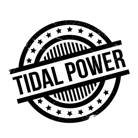 Tidal Power rubber stamp. Grunge design with dust scratches. Effects can be easily removed for a clean, crisp look. Color is easily changed.