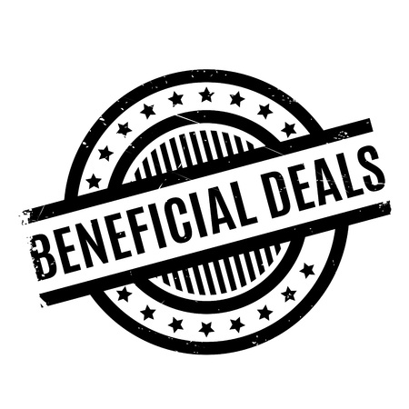 Beneficial Deals rubber stamp. Grunge design with dust scratches. Effects can be easily removed for a clean, crisp look. Color is easily changed. Illustration