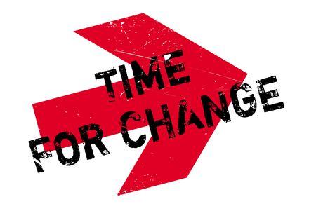 Tiempo para el sello cambio. Diseño de Grunge con los rasguños polvo. Los efectos se pueden quitar fácilmente para una apariencia limpia y nítida. En color se cambia fácilmente.