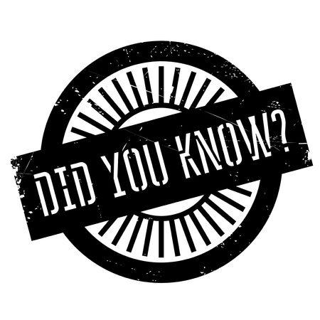 comprehend: Did you know stamp. Grunge design with dust scratches. Effects can be easily removed for a clean, crisp look. Color is easily changed.