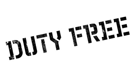 toll free: Duty free stamp. Grunge design with dust scratches. Effects can be easily removed for a clean, crisp look. Color is easily changed. Illustration