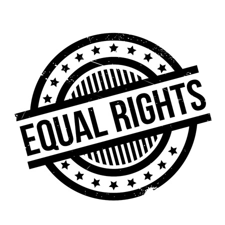 activist: Equal Rights rubber stamp. Grunge design with dust scratches. Effects can be easily removed for a clean, crisp look. Color is easily changed. Illustration