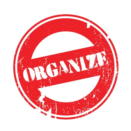 settle up: Organize rubber stamp. Grunge design with dust scratches. Effects can be easily removed for a clean, crisp look. Color is easily changed.