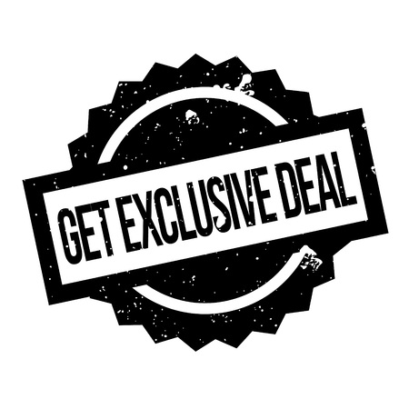 Get Exclusive Deal rubber stamp. Grunge design with dust scratches. Effects can be easily removed for a clean, crisp look. Color is easily changed.