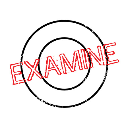 Examine rubber stamp. Grunge design with dust scratches. Effects can be easily removed for a clean, crisp look. Color is easily changed.