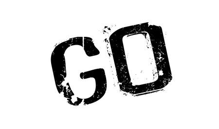 Vaya el sello de goma. Diseño de grunge con rasguños de polvo. Los efectos se pueden quitar fácilmente para un aspecto limpio y nítido. El color se cambia fácilmente.