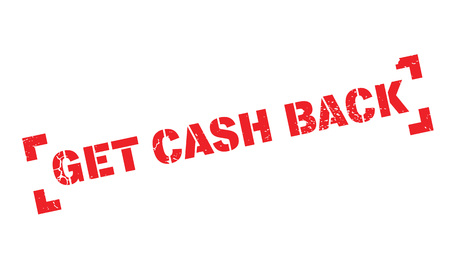 Get Cash Back rubber stamp. Grunge design with dust scratches. Effects can be easily removed for a clean, crisp look. Color is easily changed.
