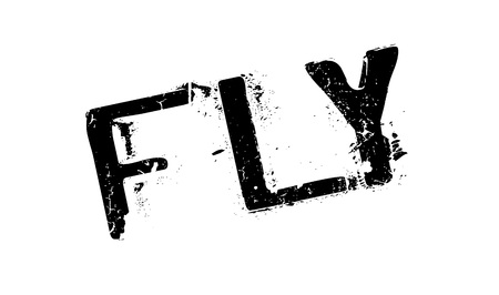 Fly rubber stamp. Grunge design with dust scratches. Effects can be easily removed for a clean, crisp look. Color is easily changed.