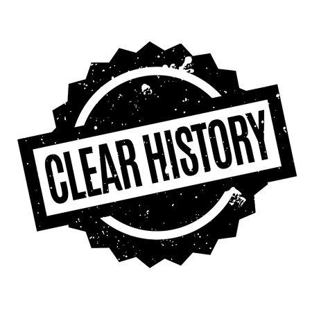 bygone: Clear History rubber stamp. Grunge design with dust scratches. Effects can be easily removed for a clean, crisp look. Color is easily changed.