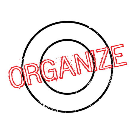 harmonize: Organize rubber stamp. Grunge design with dust scratches. Effects can be easily removed for a clean, crisp look. Color is easily changed.