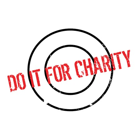 accomplish: Do It For Charity rubber stamp. Grunge design with dust scratches. Effects can be easily removed for a clean, crisp look. Color is easily changed.