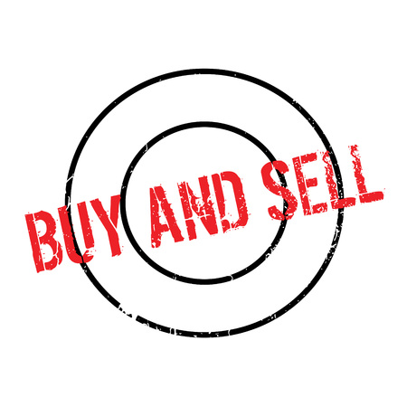 Buy And Sell rubber stamp. Grunge design with dust scratches. Effects can be easily removed for a clean, crisp look. Color is easily changed. Illustration
