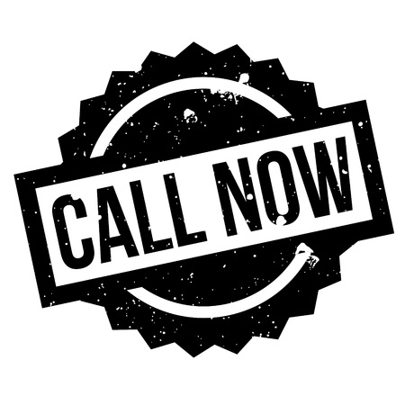 important phone call: Call Now rubber stamp. Grunge design with dust scratches. Effects can be easily removed for a clean, crisp look. Color is easily changed.