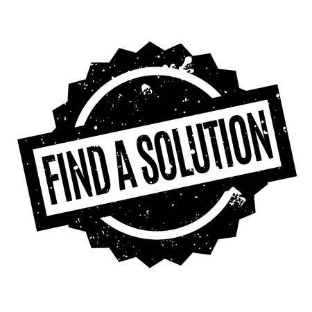 Find A Solution rubber stamp. Grunge design with dust scratches. Effects can be easily removed for a clean, crisp look. Color is easily changed.