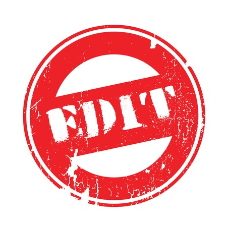 Edit rubber stamp. Grunge design with dust scratches. Effects can be easily removed for a clean, crisp look. Color is easily changed.