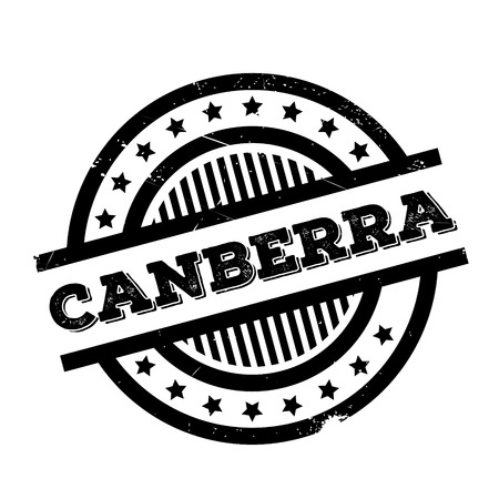 Canberra rubber stamp. Grunge design with dust scratches. Effects can be easily removed for a clean, crisp look. Color is easily changed.